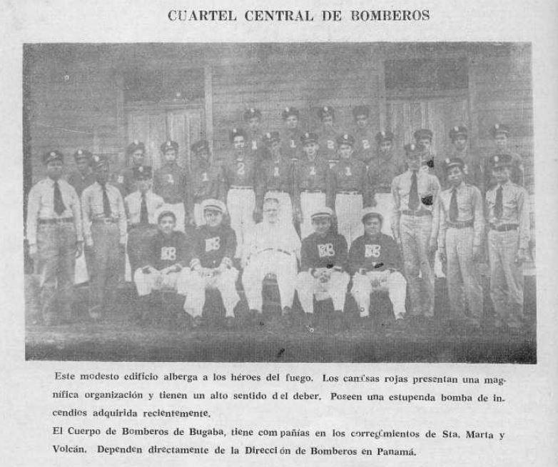 La historia del cuerpo de Bomberos de Bugaba