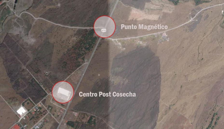 Bajada magnética en la vía a Cerro Punta, Bugaba, Chiriquí
